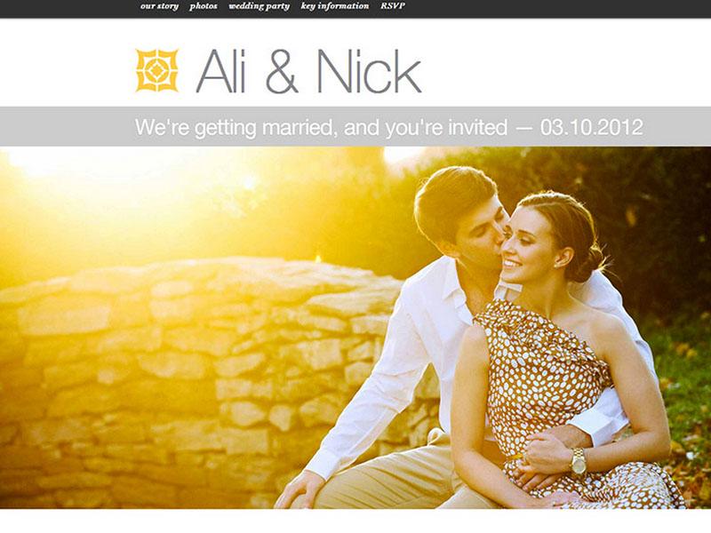 best wedding websites - 740×555